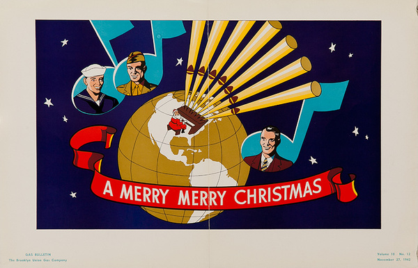 A Merry Christmaas Original WWII Home Front Poster