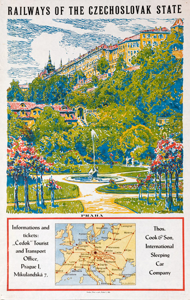 Railways of the Czechoslovak State Original Travel Poster