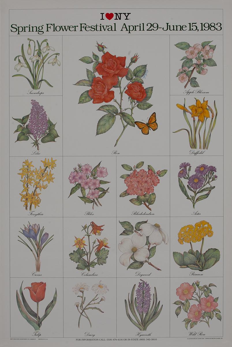 I Love New York, Spring Flower Festival Original Travel Poster