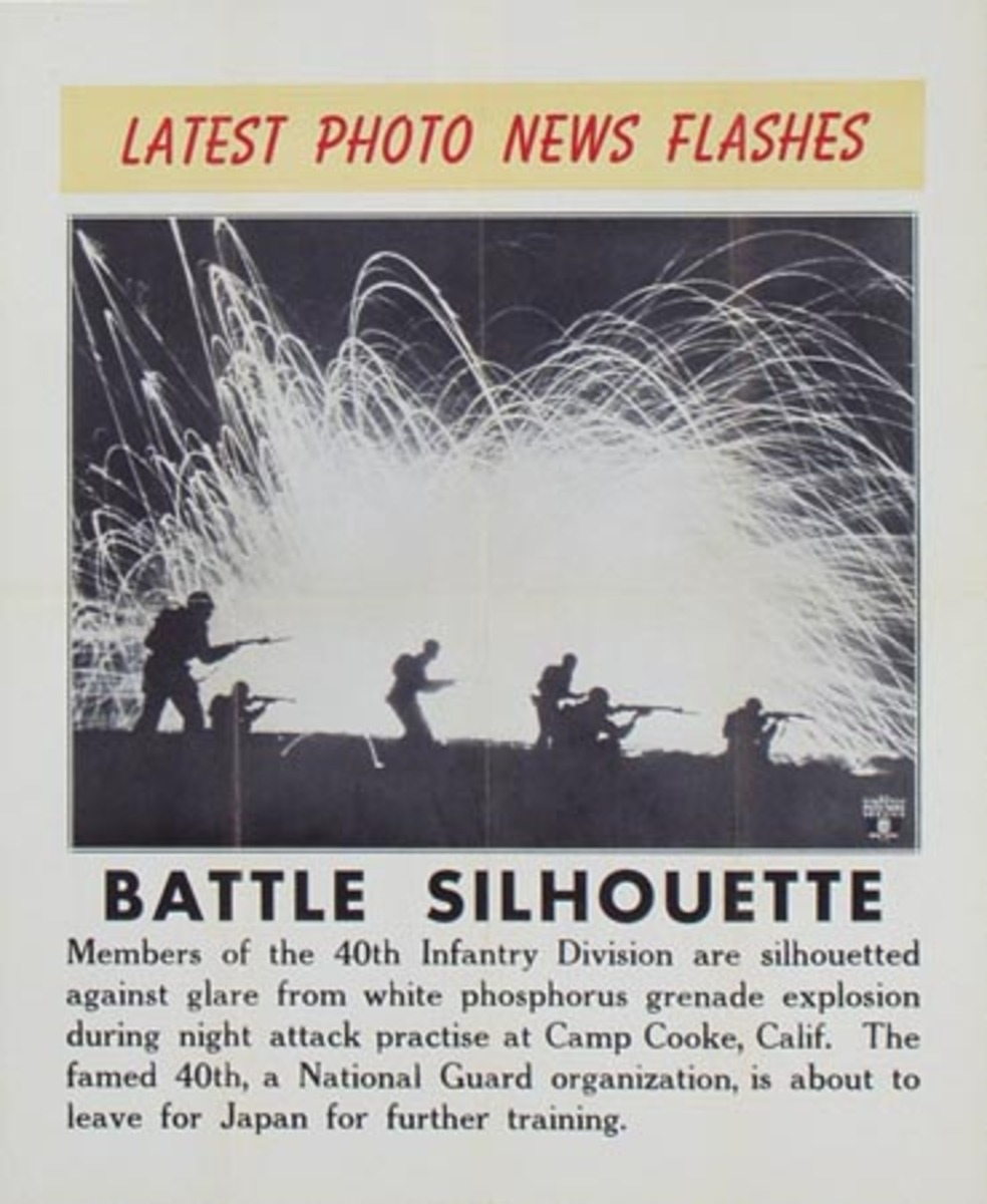 Latest Photo News Flash Original Poster Battle Silhouette