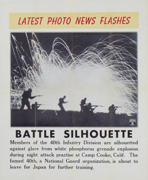 Latest Photo News Flash Original Poster Battle Silhouette