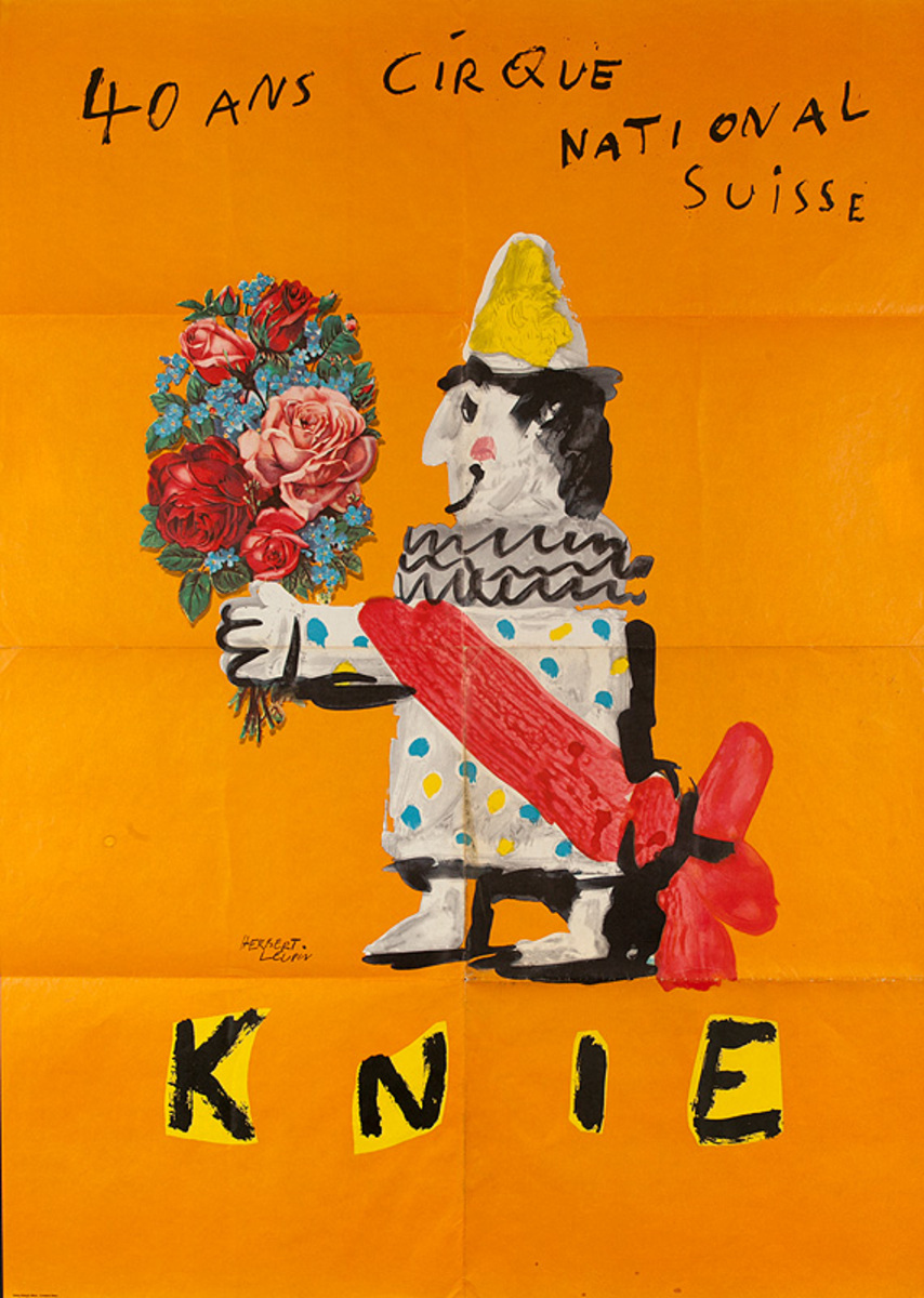 Swiss National Circus 40th Anniversary Poster, KNIE 40 Ans Cirque National Suisse
