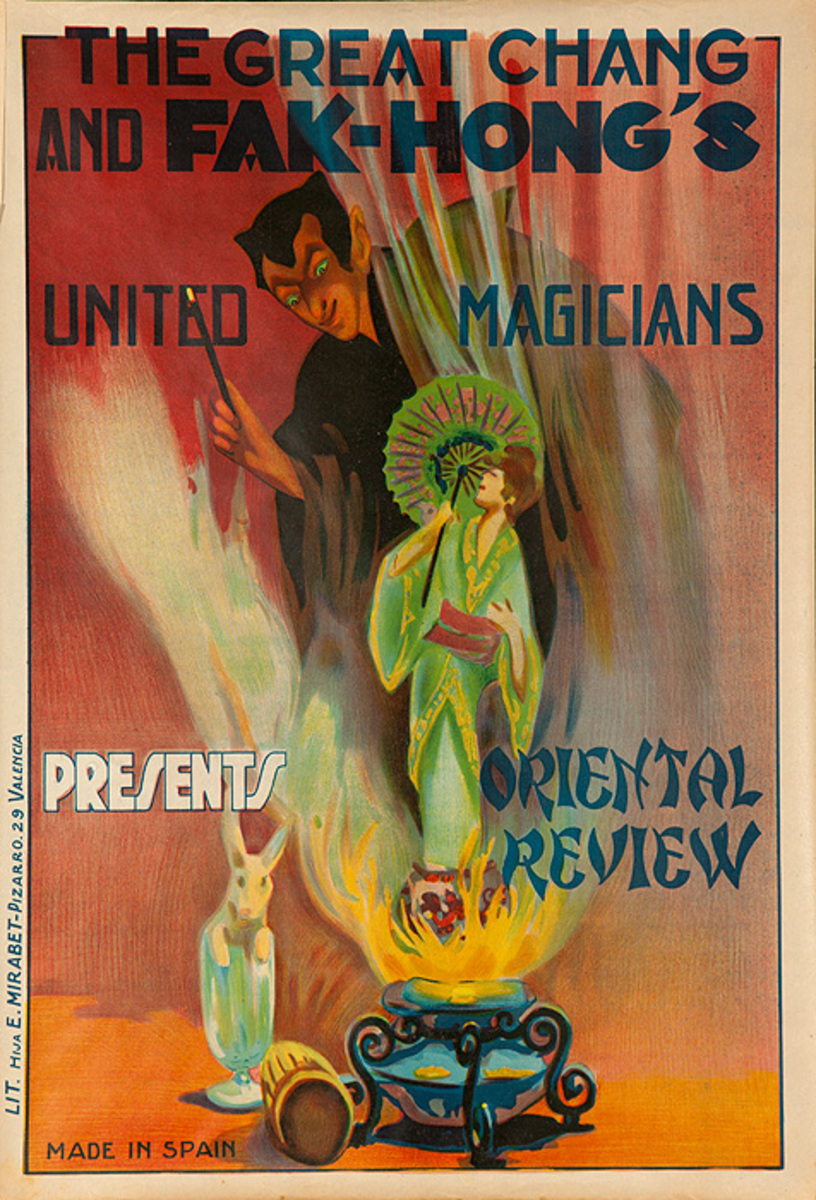 Chang and Fak Hong's United Magicians Presents, Oriental Review, Original Spanish Magic Poster