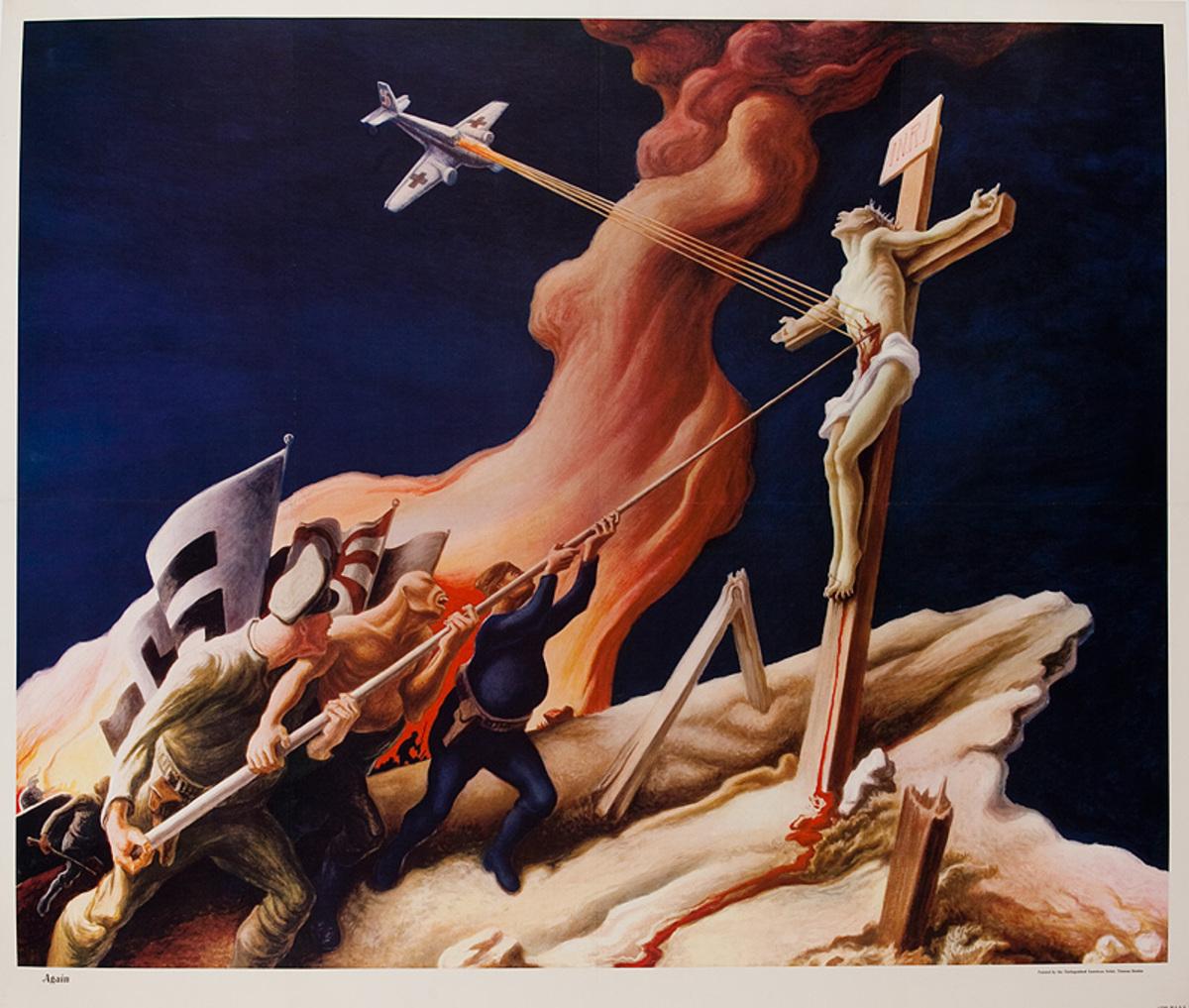 Again, Original Thomas Hart Benton WWII Poster