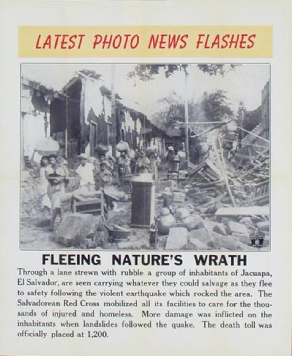 Latest Photo News Flash Original Poster Fleeing Nature's Wrath