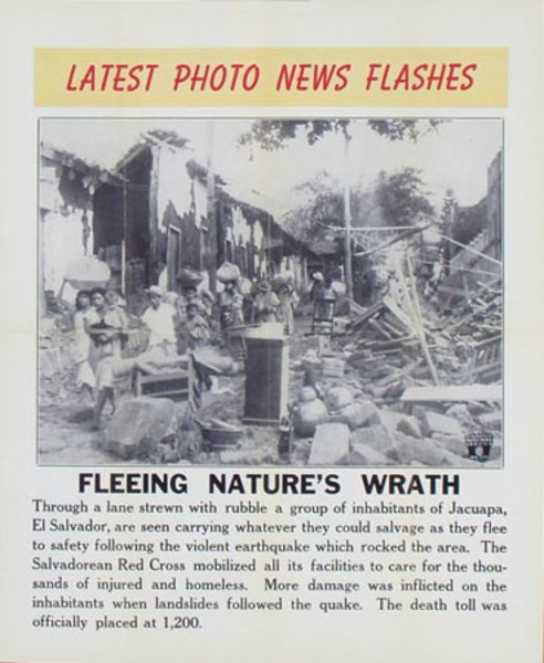 Latest Photo News Flash Original Poster Fleeing Nature's Wrath