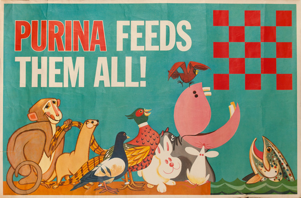 Purina Feeds The All Original American Advertising Poster