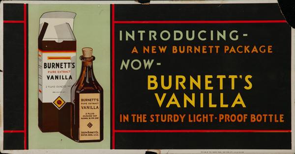 Burnett's Vanilla Original Trolley Card Advertising Card
