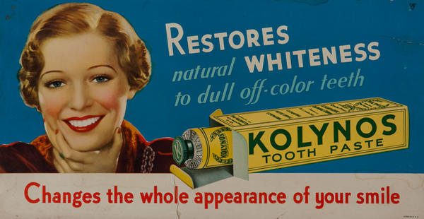 Kolynos Restores Natural Whiteness Original Trolley Card Toothepaste Advertising Card