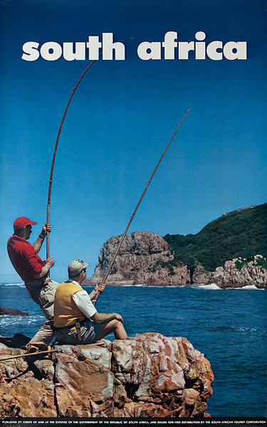 South Africa Travel Poster, Fishing