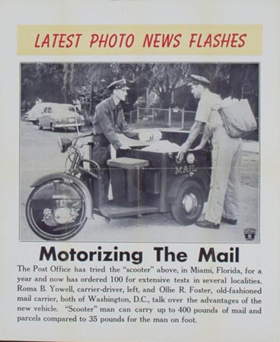 Latest Photo News Flash Original Poster Motorizing the Mail