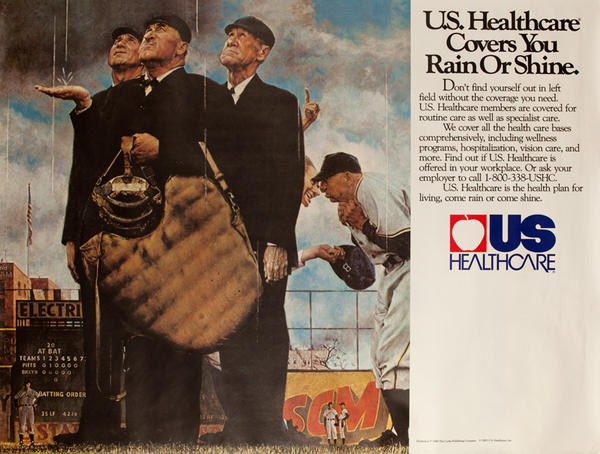US Healthcare- Don't Leave Good Health to Chance Original American Advertising Poster